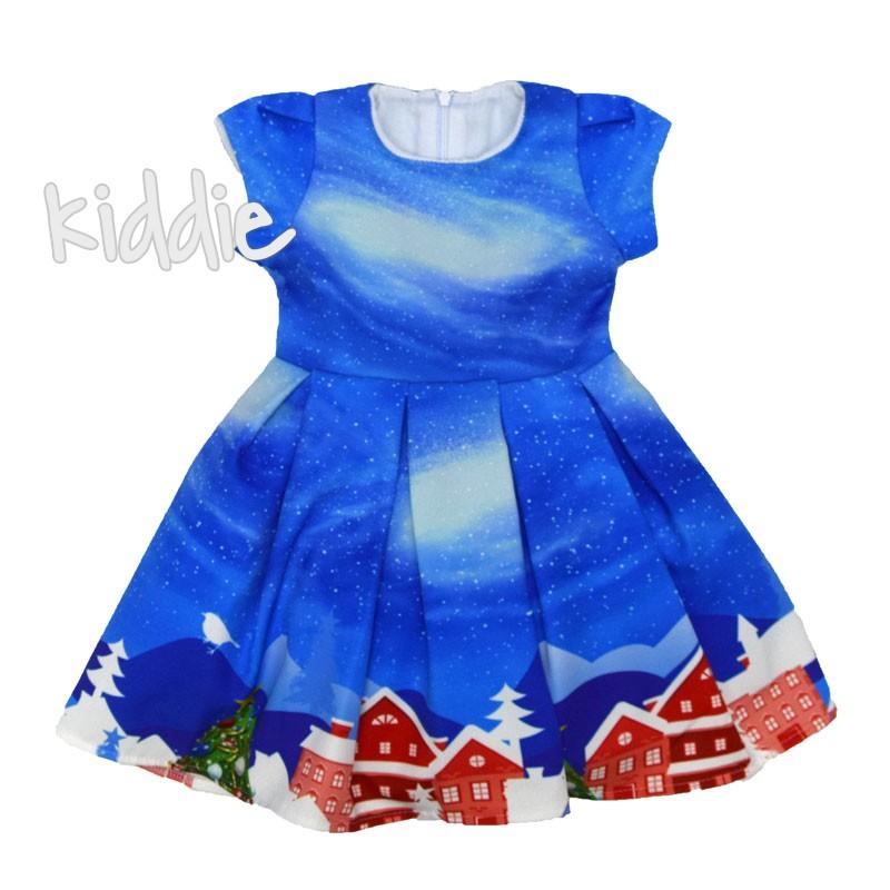 Коледна рокля с къс ръкав IVON