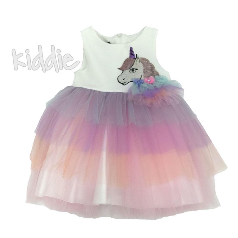 Детска рокля Еднорог три цветя Eraykids