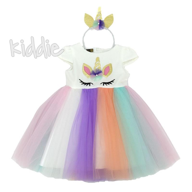 Детска рокля Еднорог Eray kids с диадема
