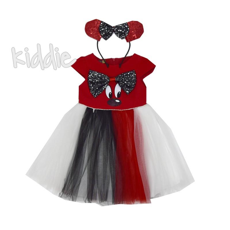 Детска рокля Мини Маус Eray kids с диадема