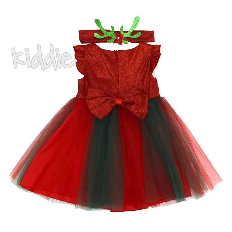 Детска рокля Eraykids с цветя и лента