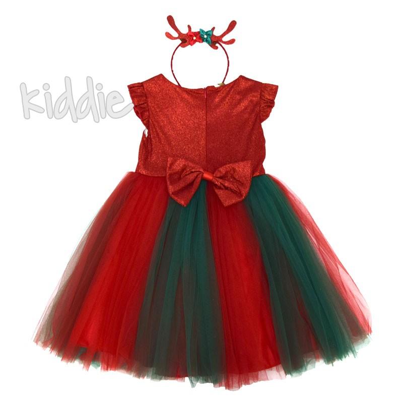 Детска коледна рокля с диадема Eraykids