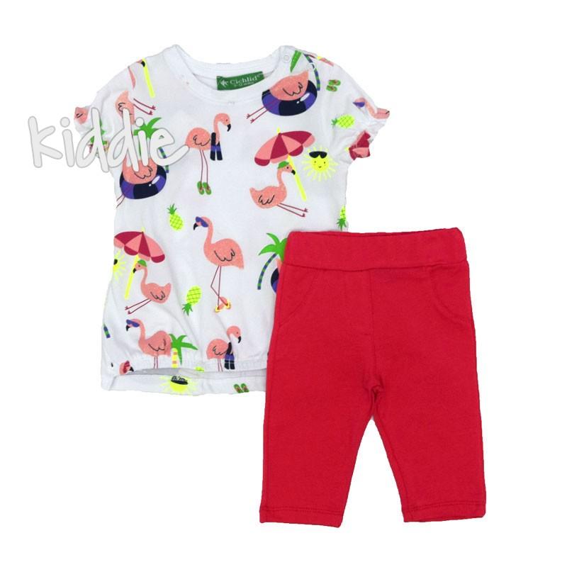 Детски комплект Cichlid Фламинго за момиче