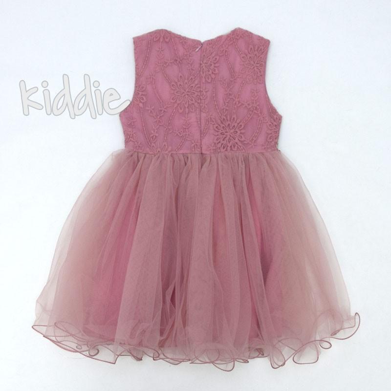 Детска рокля с тюл и хастар