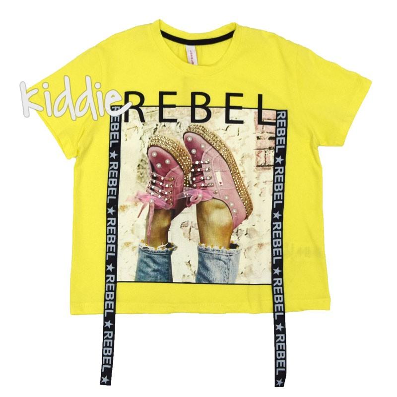 Детска тениска Loco Loco Rebel за момиче