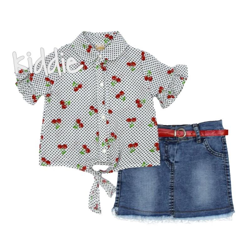 Детски комплект Eraykids за момиче с риза