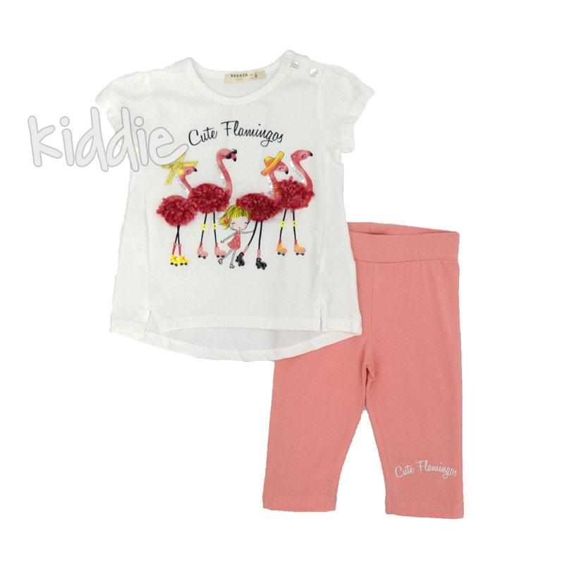 Детски комплект Breeze Cute Flamingos за момиче