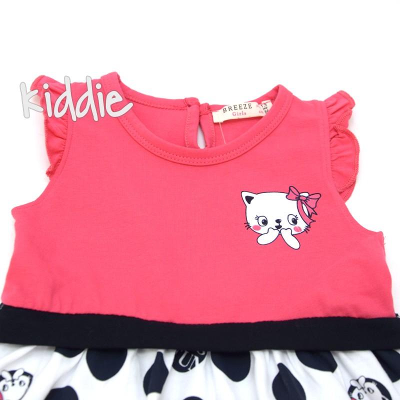Детска рокля на точки Breeze Cat