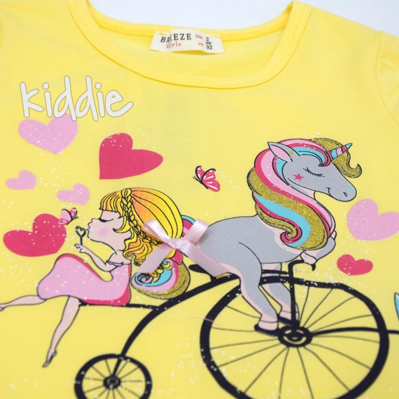 Детски комплект за момиче с клин на сърца