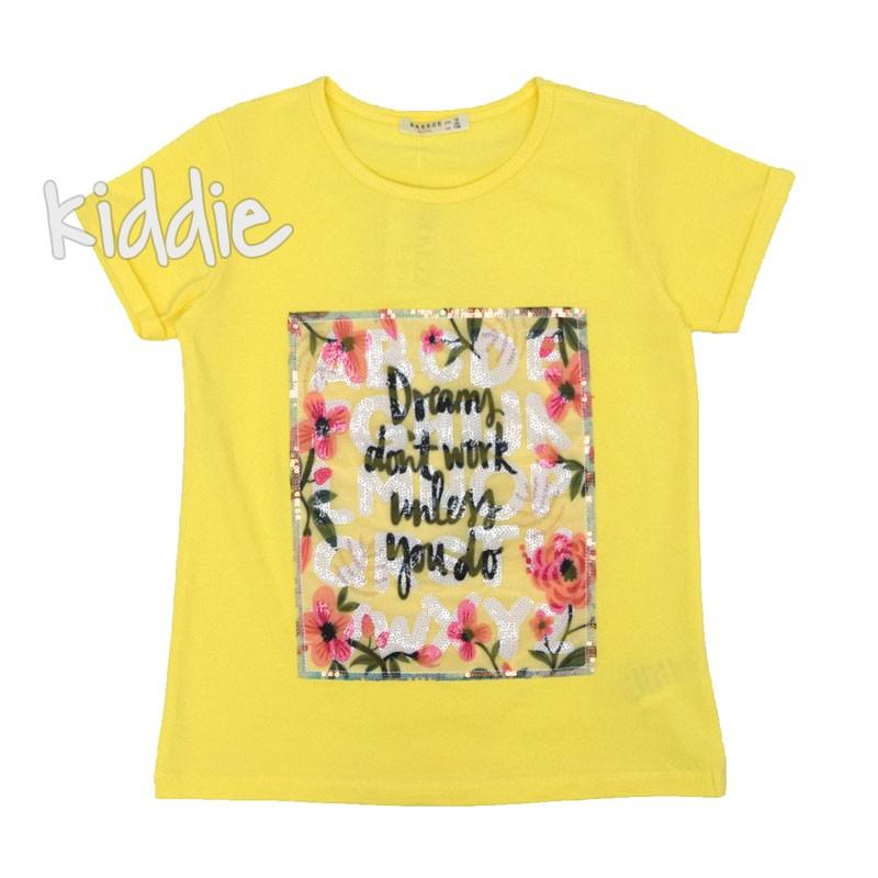Детска тениска Breeze с пайети за момиче