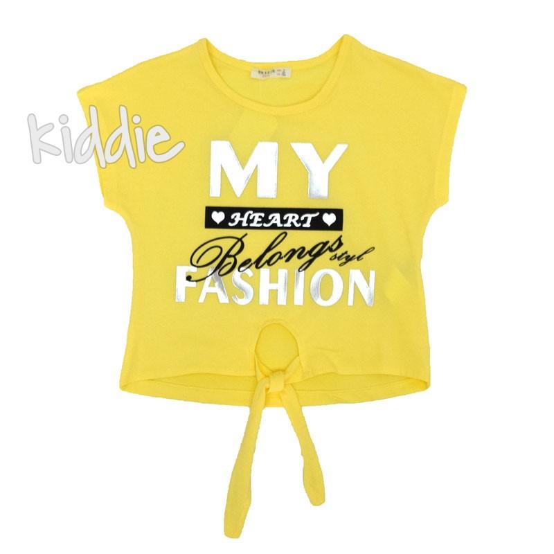 Детска къса блуза Breeze за момиче