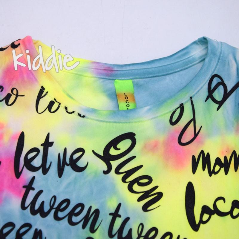 Детска блуза Loco Loco за момиче с надписи