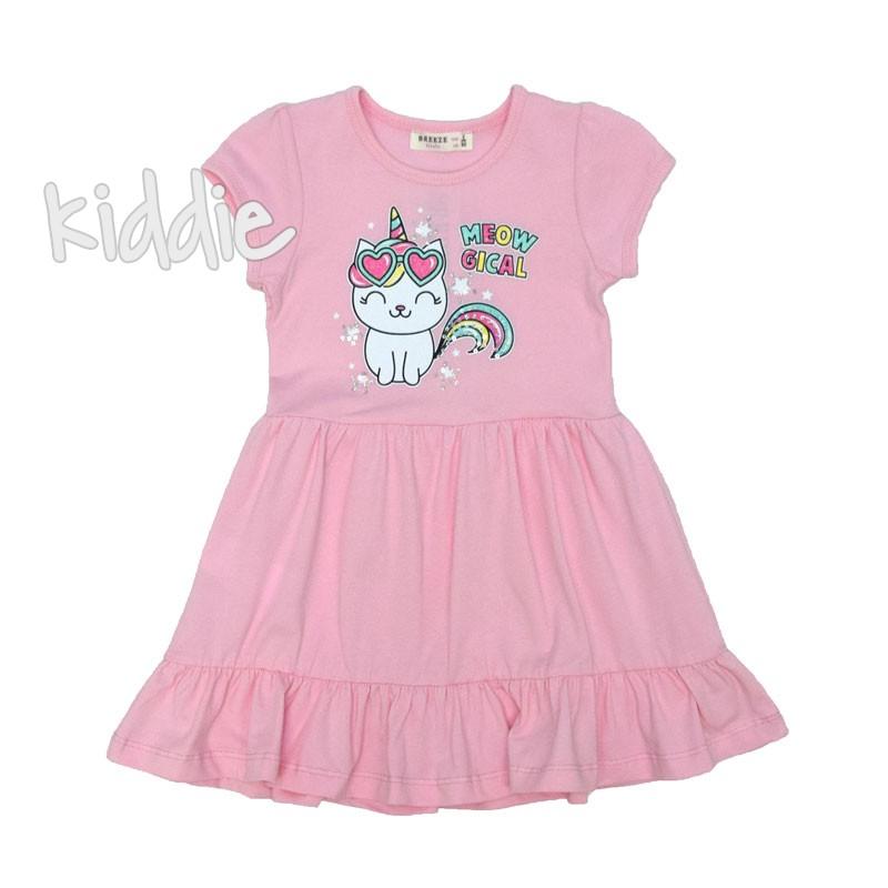 Детска рокля Breeze Meow за момиче