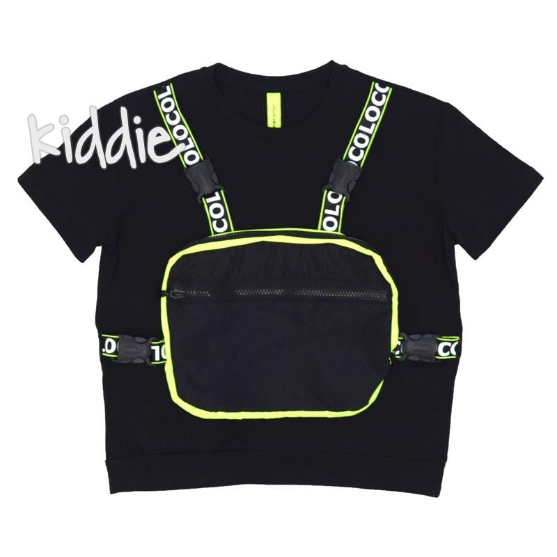 Детска тениска с чанта Loco Loco за момиче