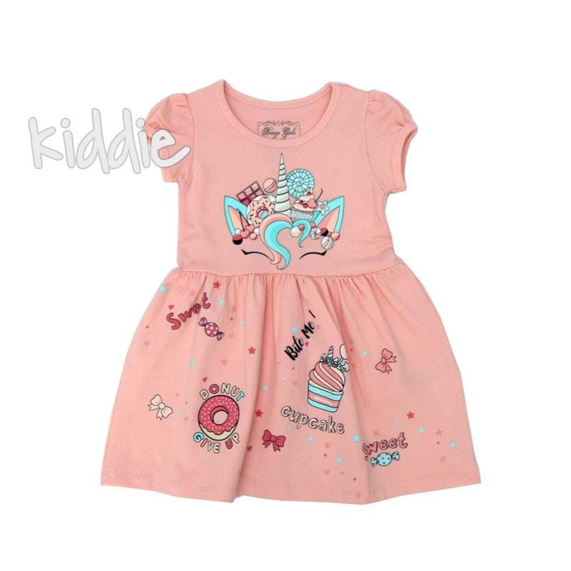 Детска рокля Breeze от трико с Еднорог