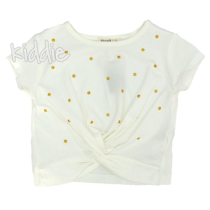 Детска тениска Breeze с възел за момиче