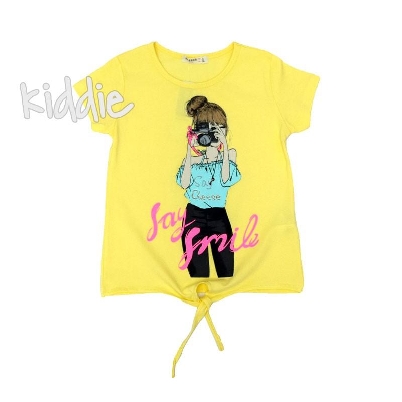 Детска тениска за момиче Breeze Say Smile