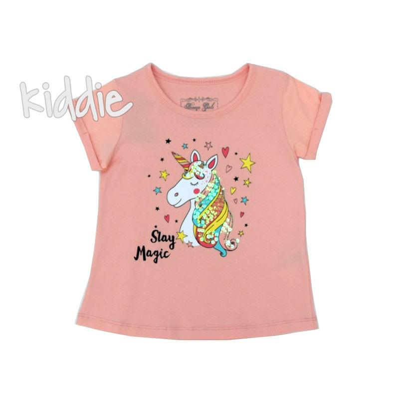 Детска тениска Breeze за момиче с еднорог