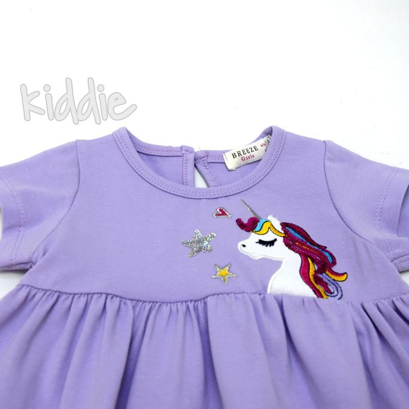Детска рокля Еднорог Breeze с пайети