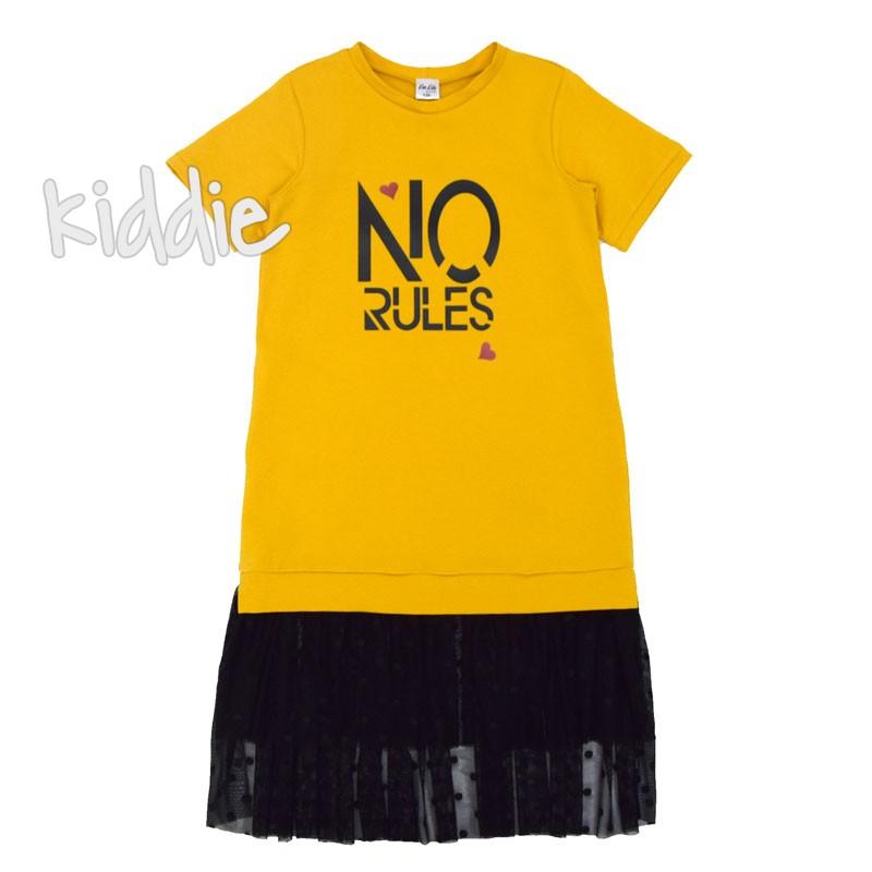 Детска рокля Kim Kids с тюл на подгъва