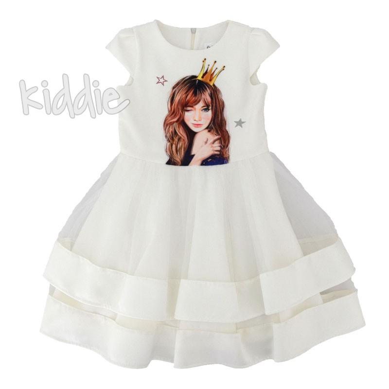 Детска рокля Kim Kids с принт Момиче с корона