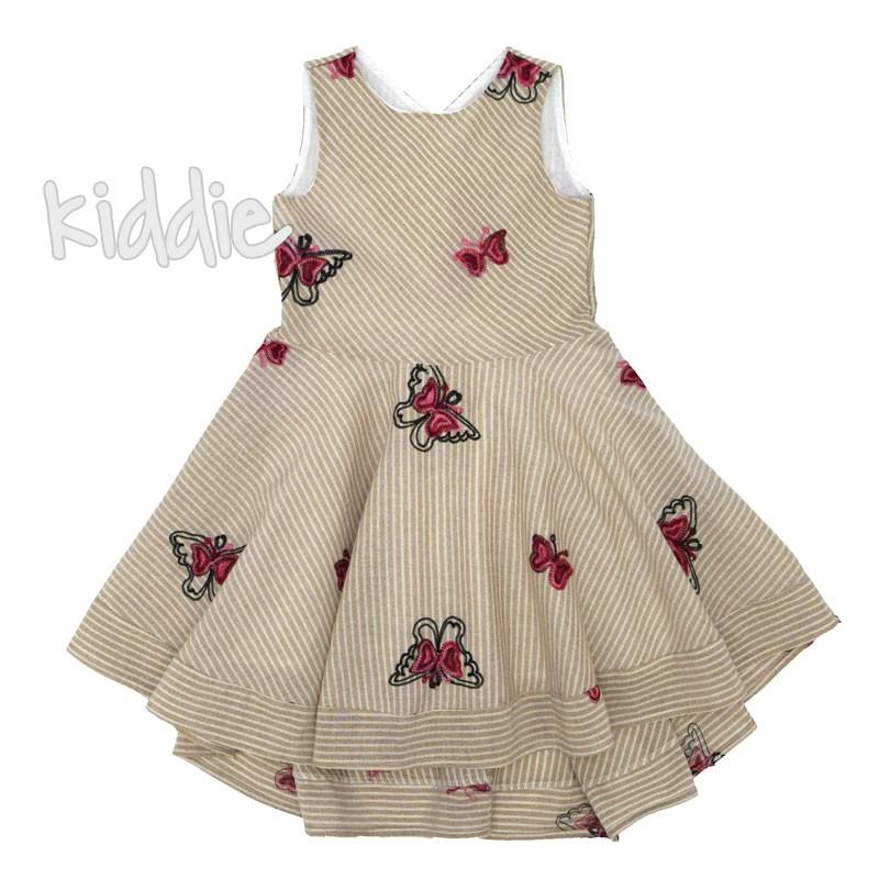 Детска рокля Kim Kids в райе