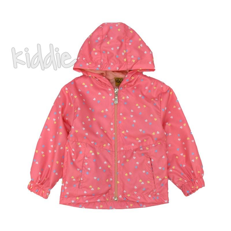 Детско яке Else ветровка за момиче с цветни сърца