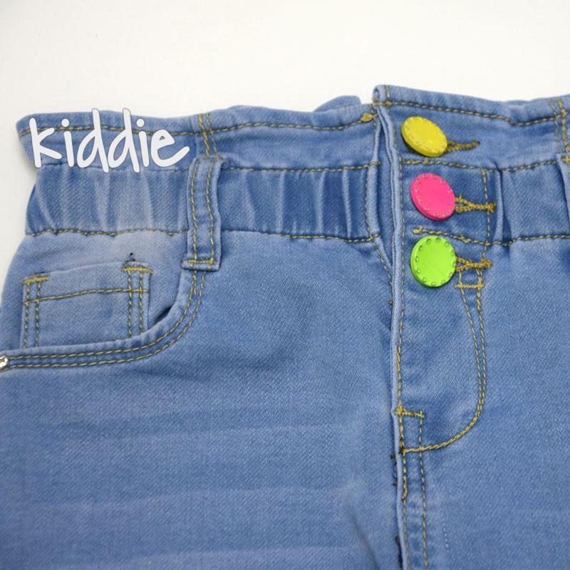 Детски дънки Lillitop за момиче с цветни копчета