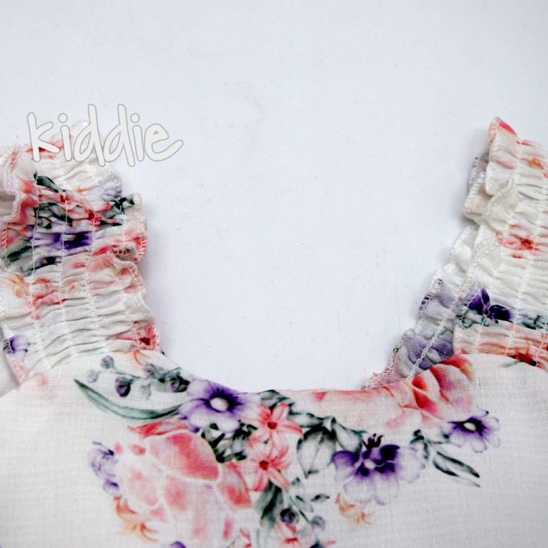 Детска рокля Ativo на волани и цветя