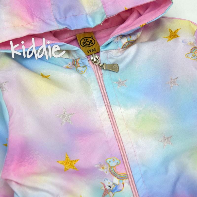 Детско яке Else ветровка за момиче със звезди