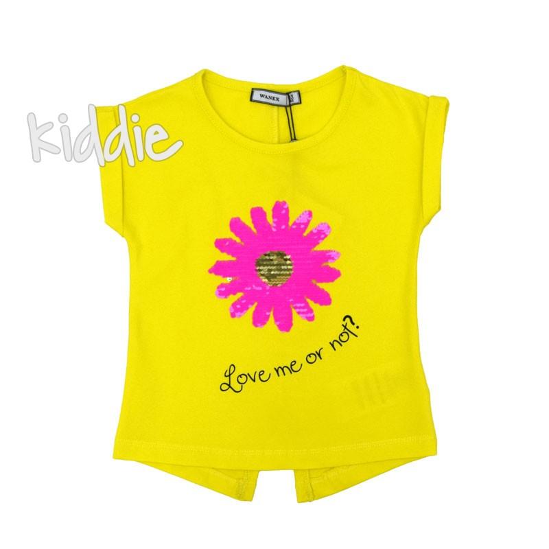 Детска тениска Wanex Love me or not за момиче