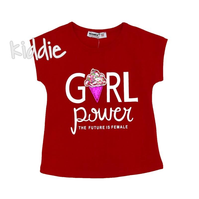 Детска тениска Girl Power Wanex за момиче
