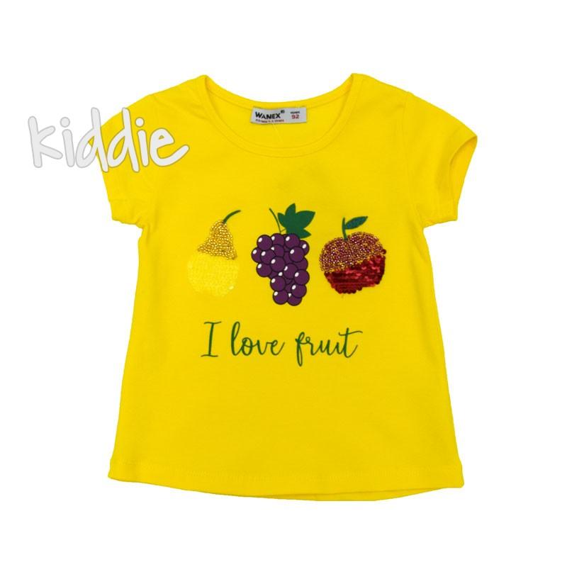 Детска тениска I love Fruit Wanex за момиче