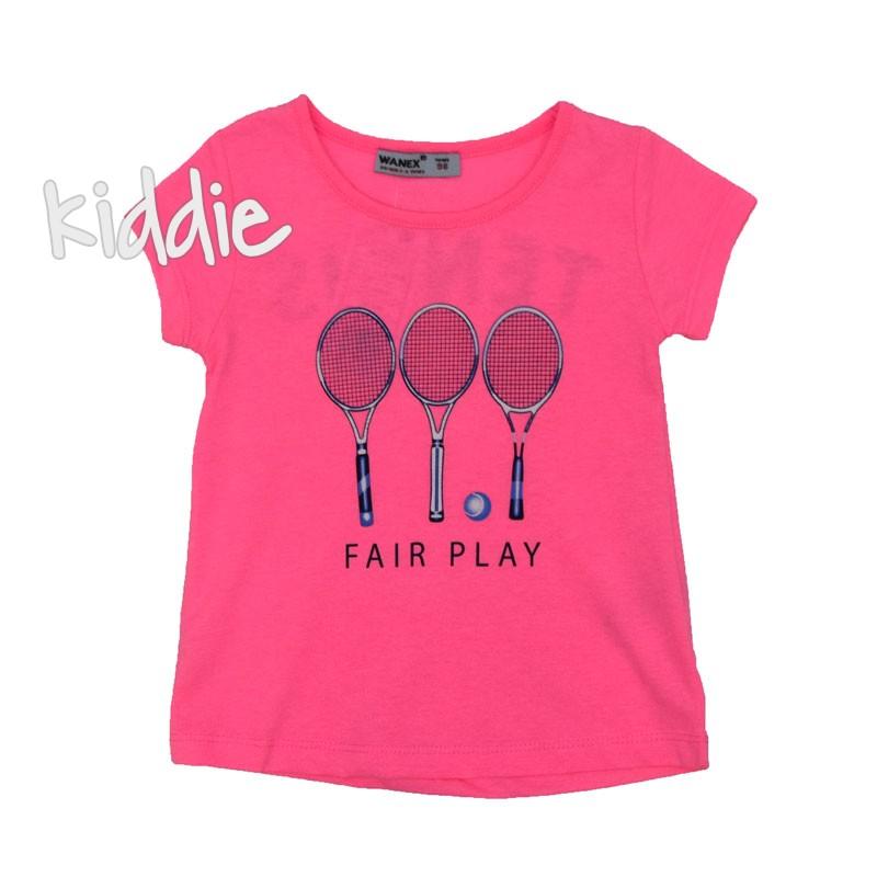 Детска тениска Tennis Wanex за момиче