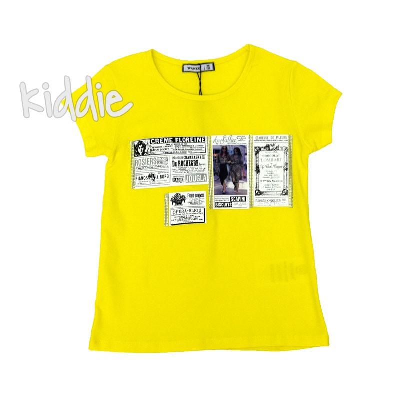 Детска тениска Crème Floreine Wanex за момиче