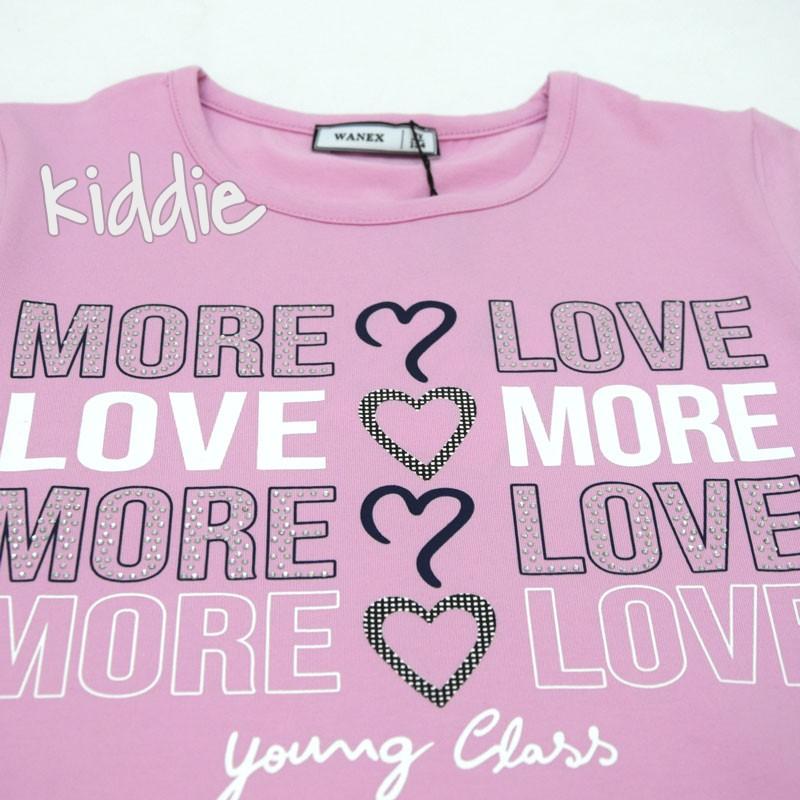 Детска тениска Wanex More Love за момиче