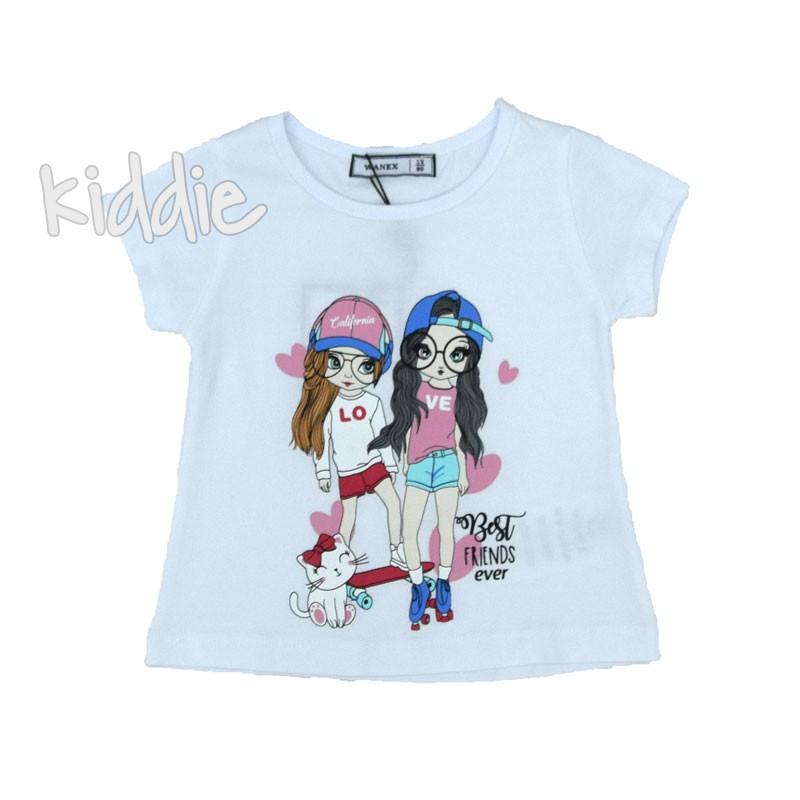 Детска тениска с декорация за момиче Wanex
