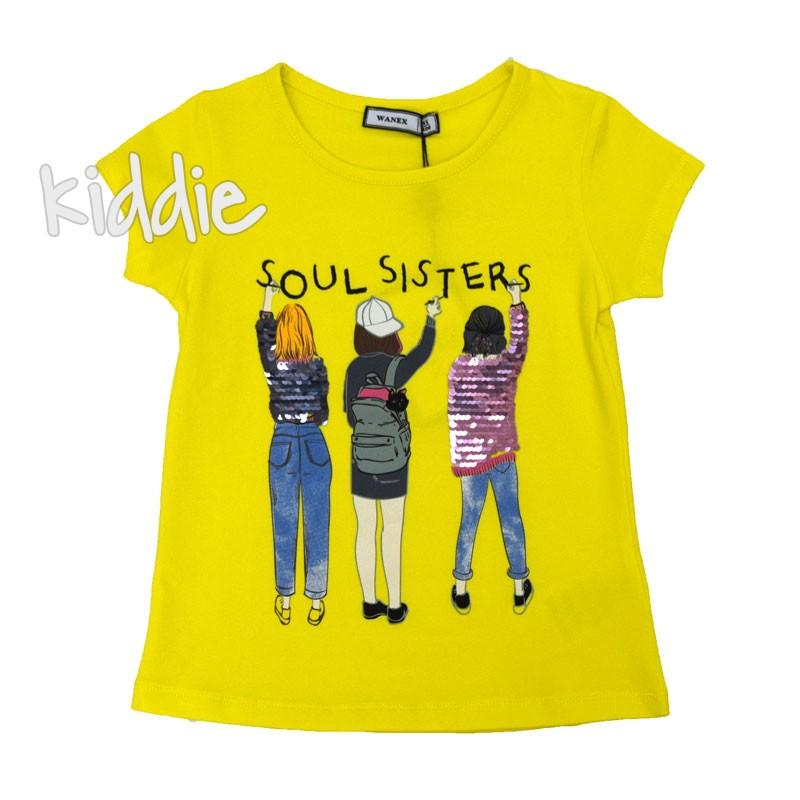 Детска тениска Wanex Soul sisters за момиче