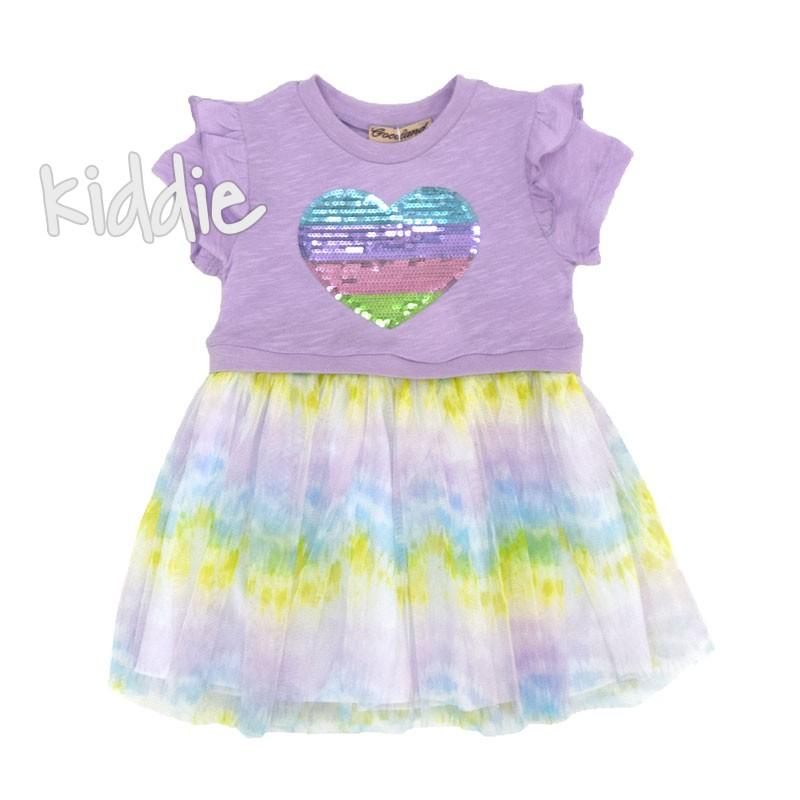 Детска рокля Cocoland Цветно сърце