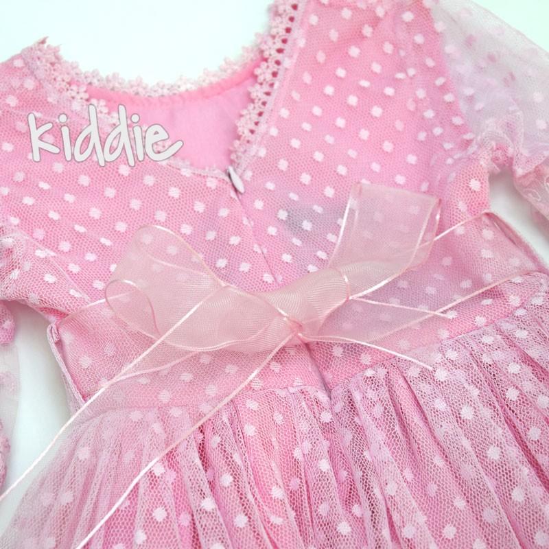 Детска дантелена рокля Moda Esilam с чанта