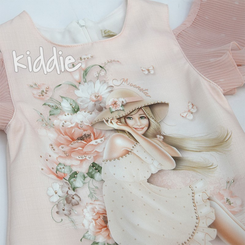 Детска нежна рокля с раница Moonstar