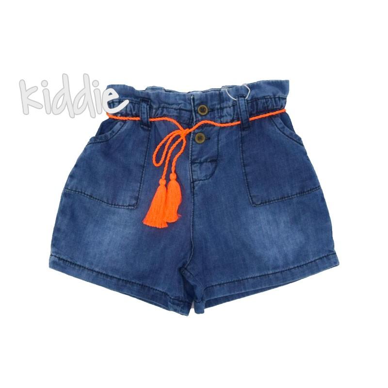 Бебешки къси дънкови панталони за момиче Cikoby
