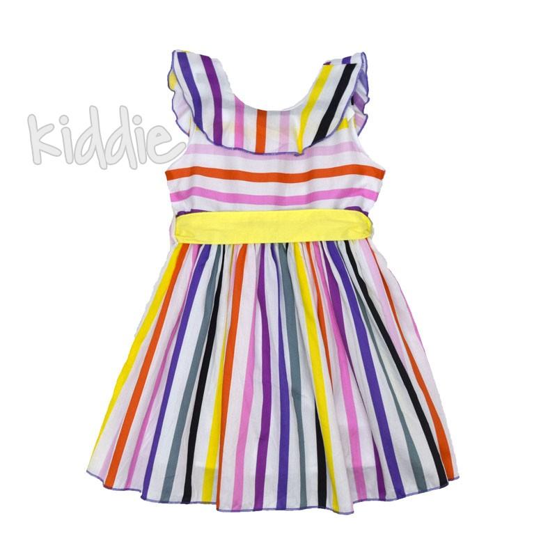 Детска рокля Cikoby в райе