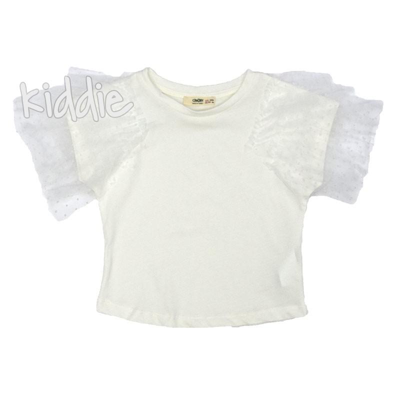 Детска блуза Cikoby за момиче с тюл