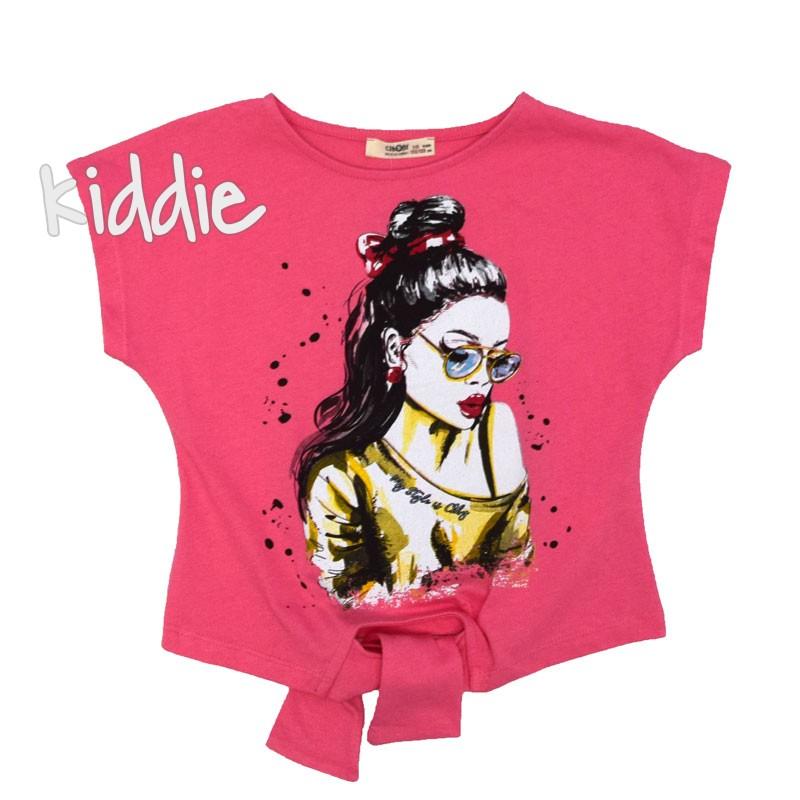 Детска тениска Cikoby с връзки за момиче