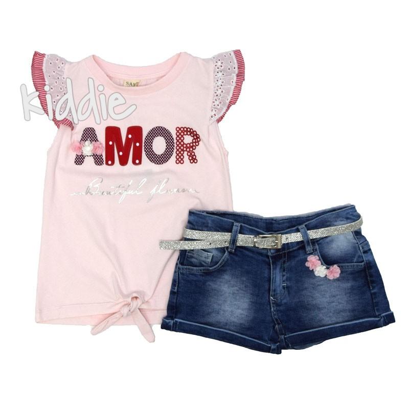 Детски комплект Amor Sani за момиче