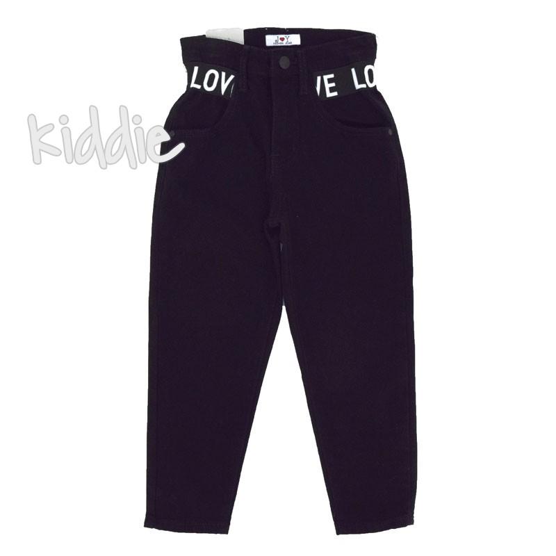 Детски панталон J and Y с висока талия за момиче