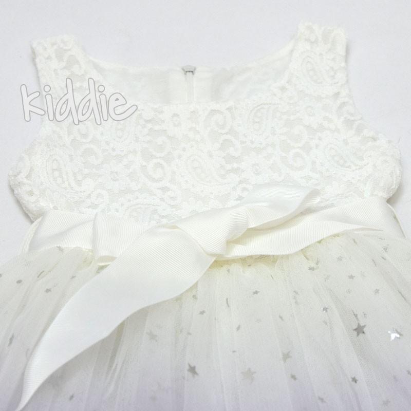 Официална детска рокля с дантела