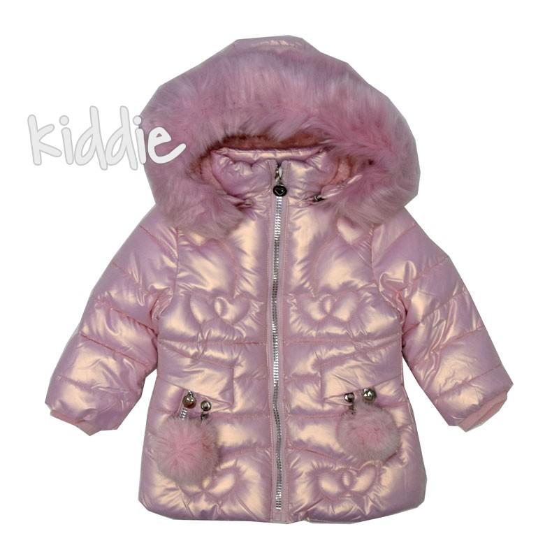 Детско яке Pink Baby за момиче с пух