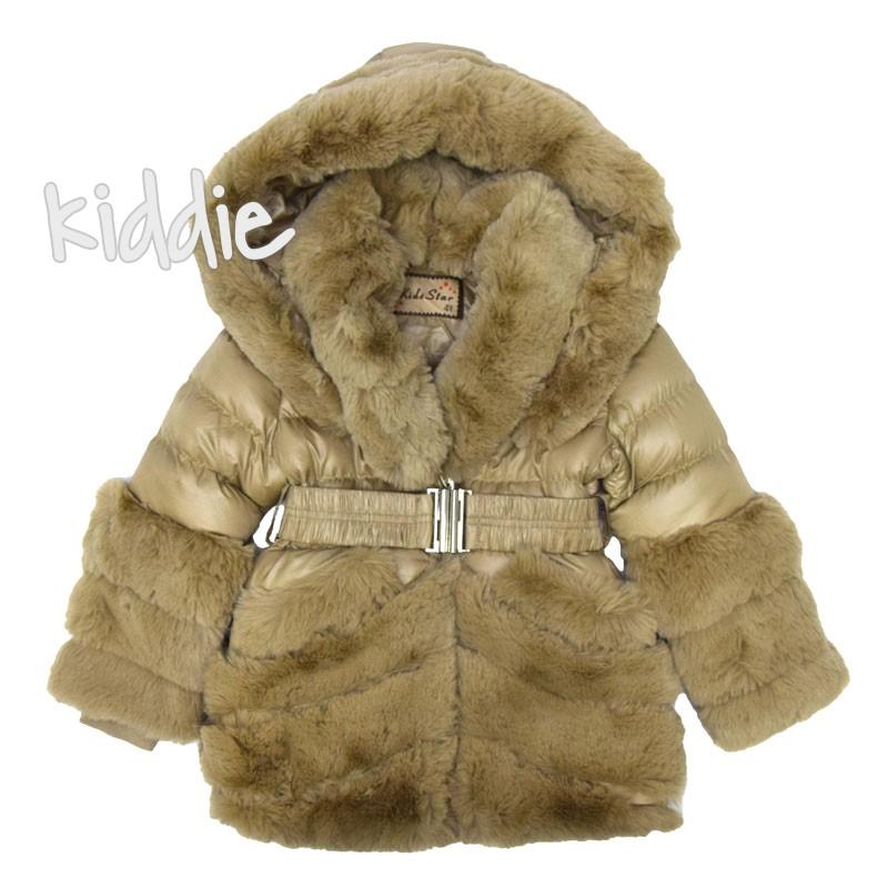 Детско издължено яке за момиче с голяма качулка Kids Star